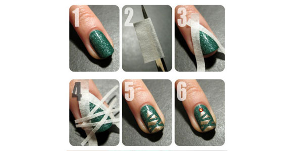 Easy-Simple-Christmas-Tree-Nail-Art-Tutorial-2012-For-Girls-F