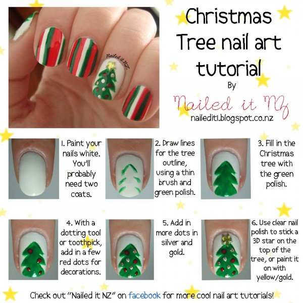 general-nail-design-tutorials-comely-christmas-nail-art-tutorial-with-christmas-tree-and-stripes-motif-accent-nail-art-tutorial