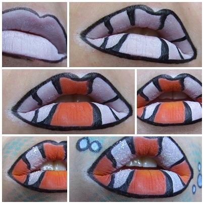 Como-pintar-los-labios-de-nemo