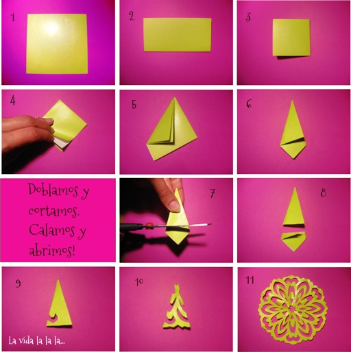 tutorial Mandalas de papel La vida la la la...