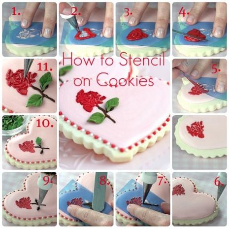 tutorial de stencil en galletas