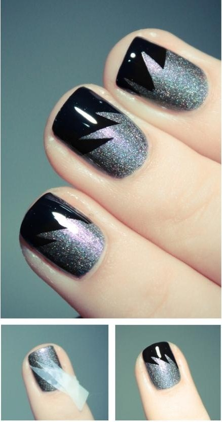 uas-pintadas-nail-art-negro-plateado