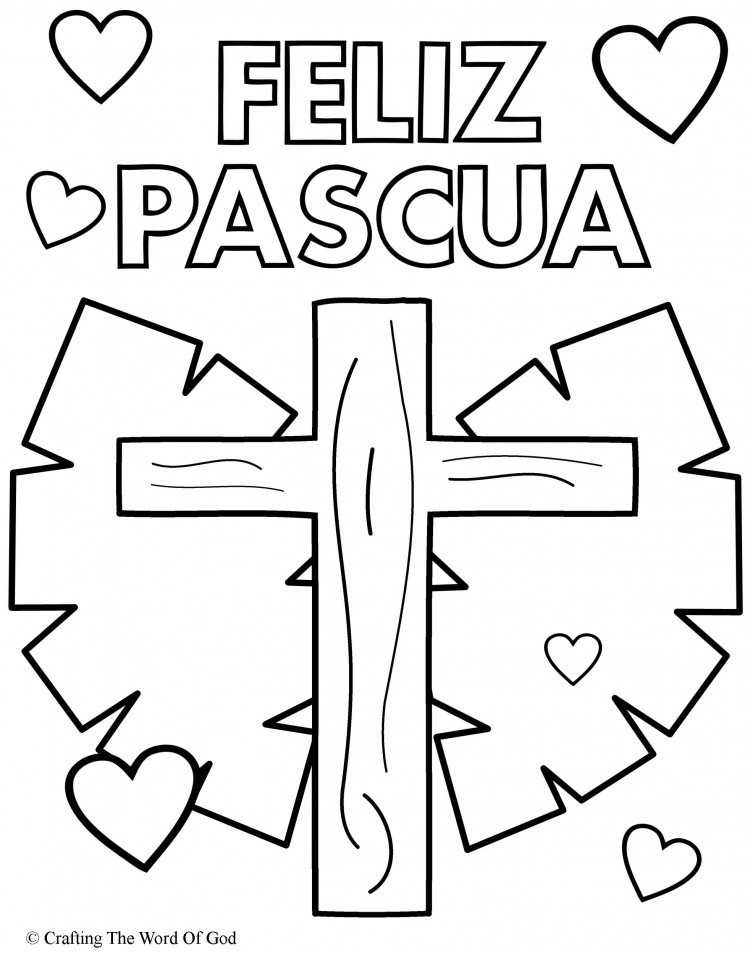 Increíble Pascua Colorear Páginas Religiosas Composición - Páginas ...