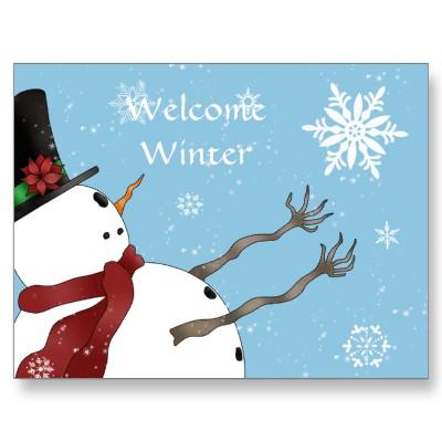 welcome_winter_snowman_post_card_postcard-p239252504493155258qibm_400