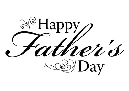 Happy Fathers Day type for card or ad.