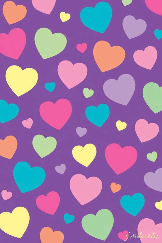 Im genes de fondos con corazones de colores para descargar for Fondo de pantalla lunares