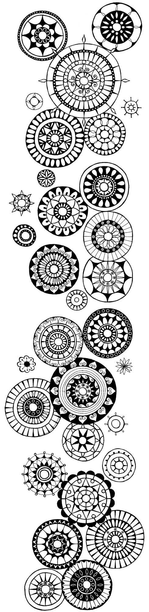 Zentangle Doodle Patterns Circle