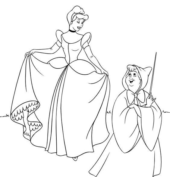 Im genes de princesas para colorear en blanco y negro