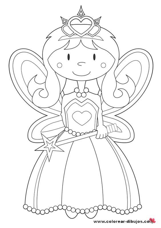 im u00e1genes de princesas para colorear en blanco y negro