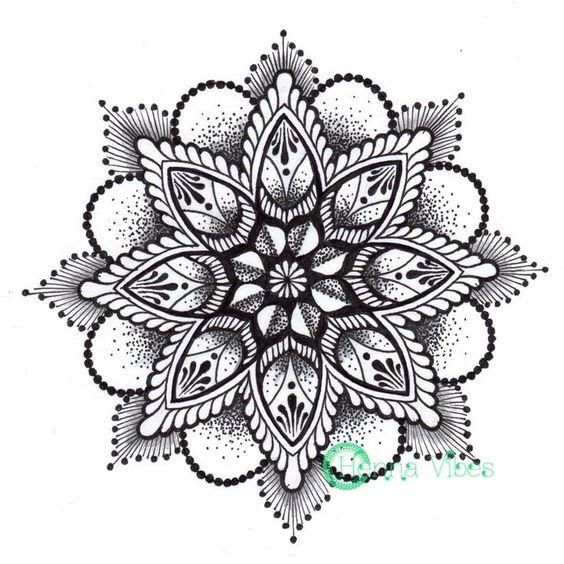 Mandala Dotwork Tattoo Designs