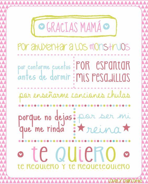 Gracias Madre Poemas imágenes con pensamientos y poemas para el día de la madre