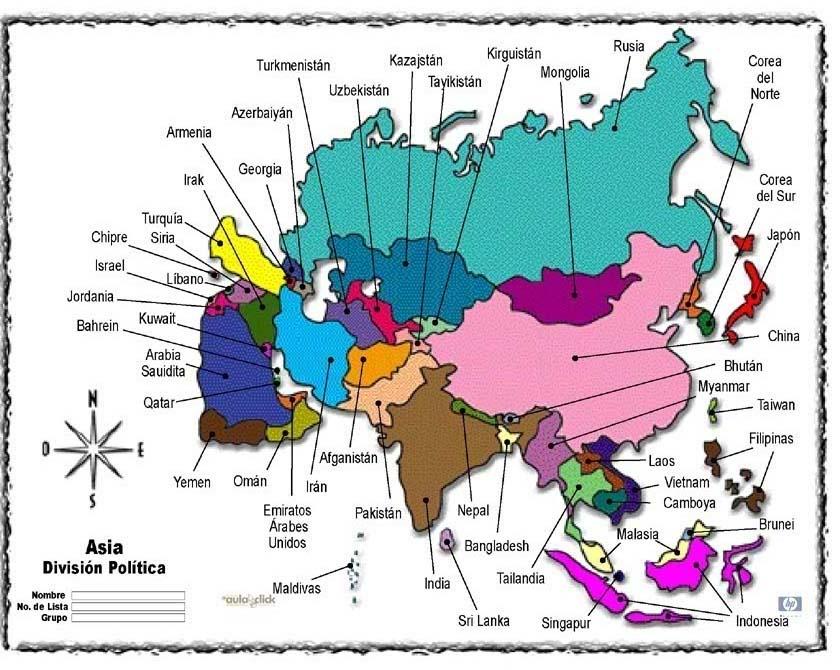 Informaci N E Im Genes Con Mapas De Asia Pol Tico F Sico