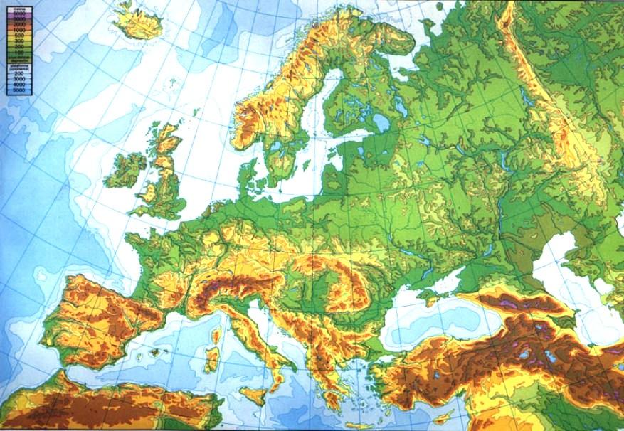 Informacin e imgenes con mapas de Europa fisico poltico y para