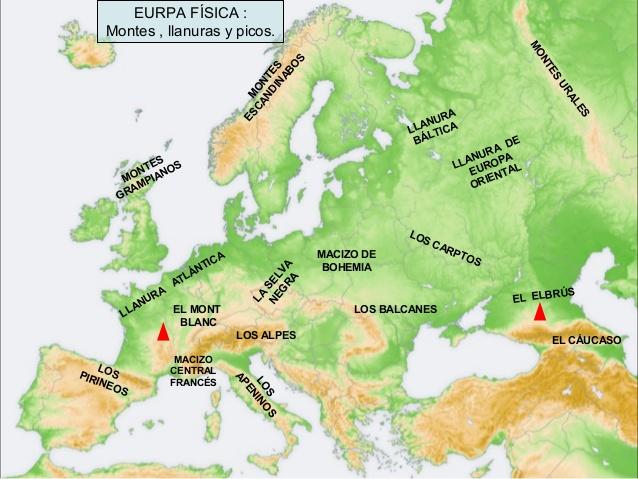 Worksheet. Informacin e imgenes con mapas de Europa fisico poltico y para