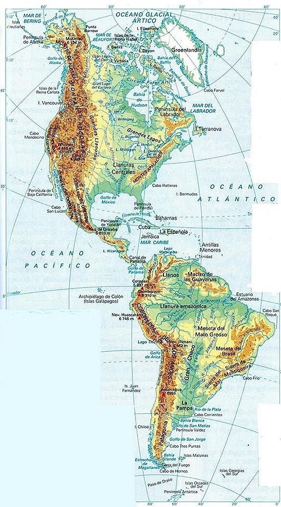Informacion E Imagenes Con Mapas De America Politico Y Fisico Imagenes Y Noticias
