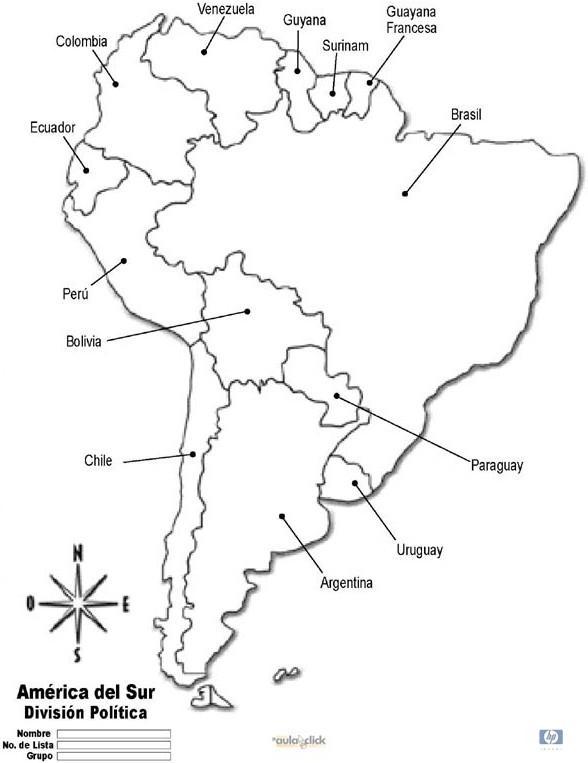 Informacin e imgenes con mapas de Amrica poltico y fsico