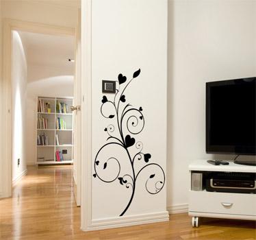 Decoraci n de paredes con vinilos ideas - Enredaderas de interior ...