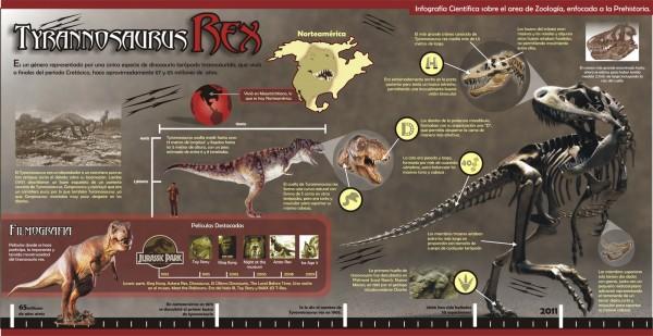 infografia tiranosaurio