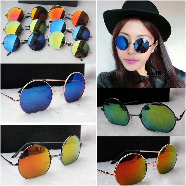 Mujer-Hippie-Shades-hippy-60s-John-Lennon-Estilo-Vintage-gafas-de-sol-redondas-Fantasía-Hippy-Eyewear