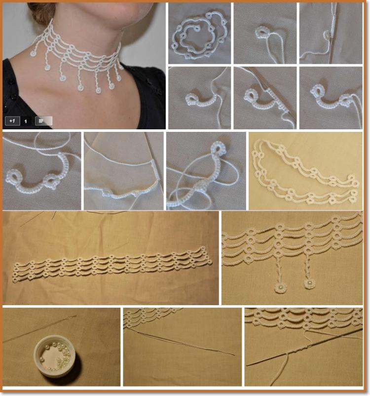 como hacer collares de Crochet1