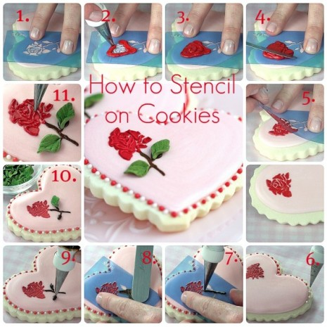 tutorial de stencil en galletas