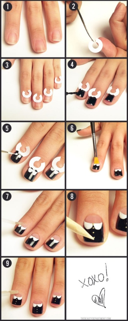 White-Collat-Nail-Design-Tutorial-Kawaii-Nail-Blog-2