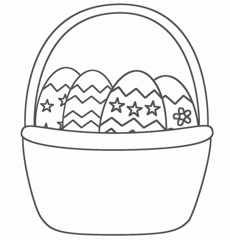 Huevos de Pascuas y conejos para colorear