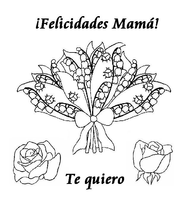 Día de la Madre, imágenes para pintar y con mensajes