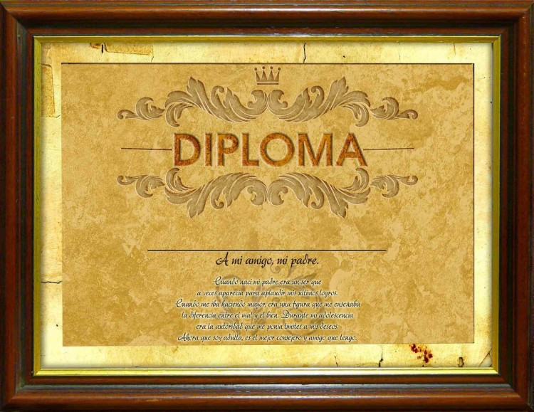 Diploma a mi viejo
