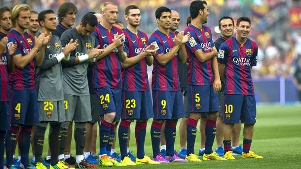 Presentación del FC Barcelona 2014-2015