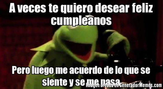 Memes Divertidos Y Chistosos De Feliz Cumpleaños