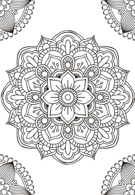 Las Mejores Imágenes De Mandalas En Banco Y Negro Para Colorear