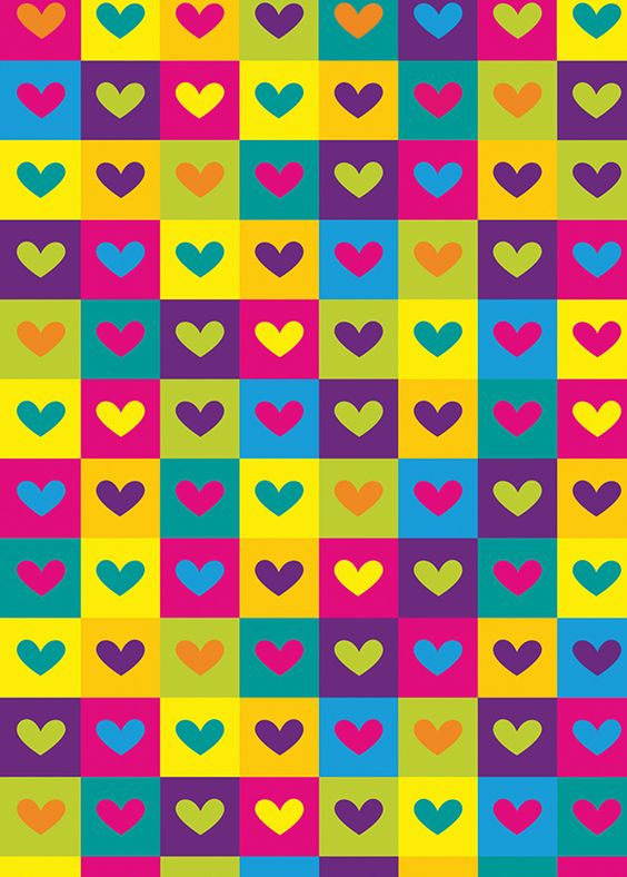 Imágenes de fondos con corazones de colores para descargar