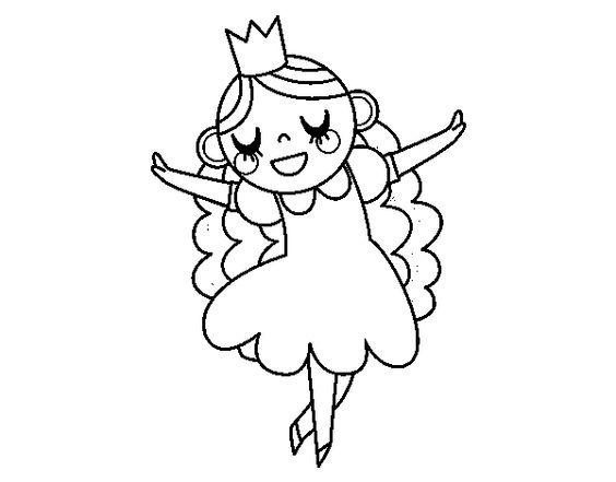 Dibujos De Princesas Para Colorear: Imágenes De Princesas Para Colorear En Blanco Y Negro