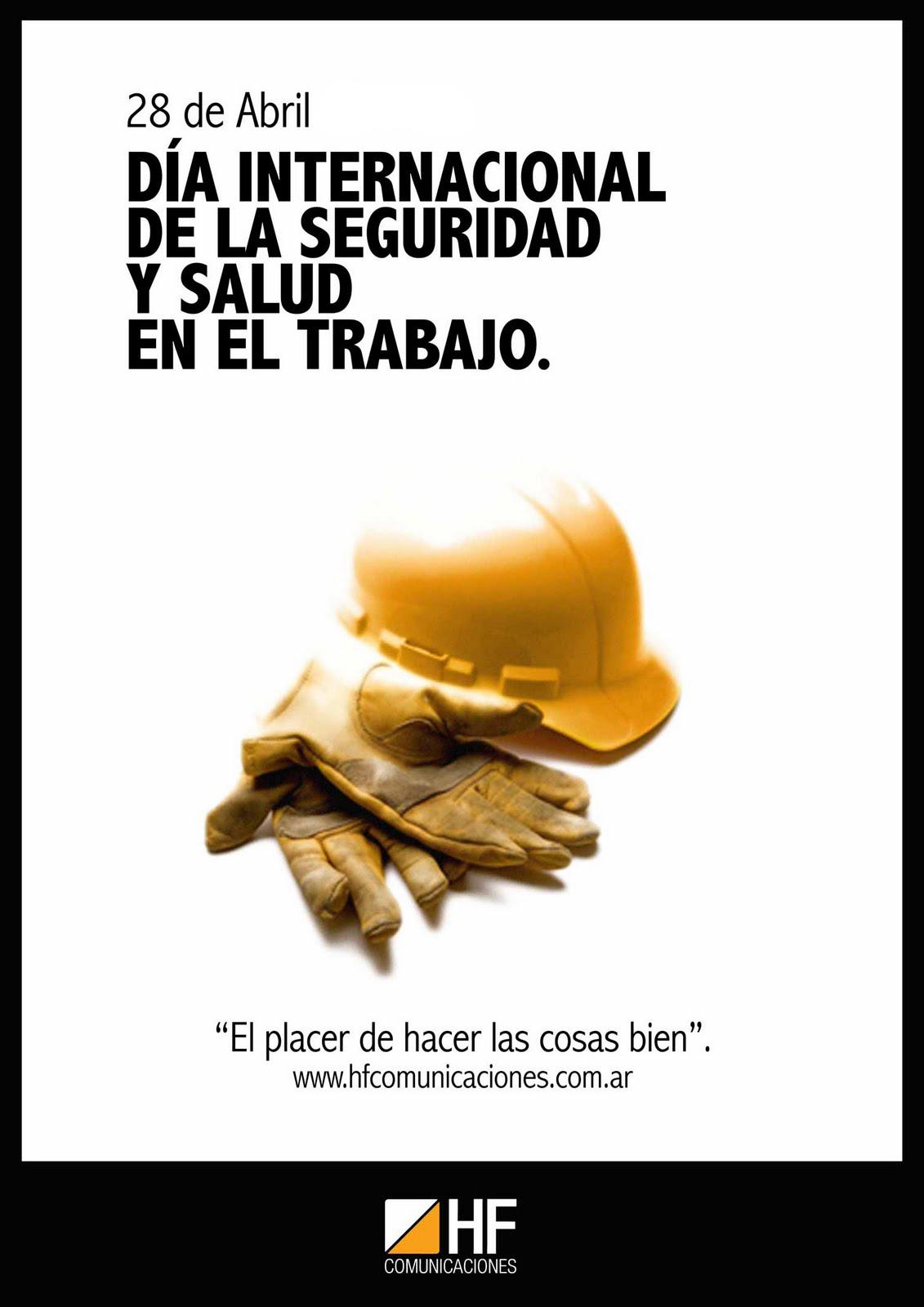 Día Mundial de la Seguridad y Salud en el Trabajo - 28 de Abril