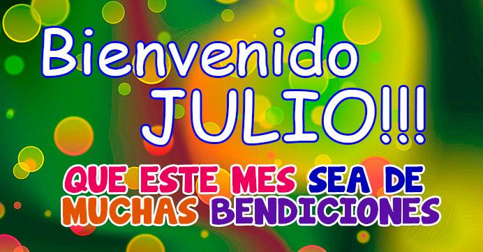 Imagen con frase para bienvenida del mes de Julio http://fechaespecial.com