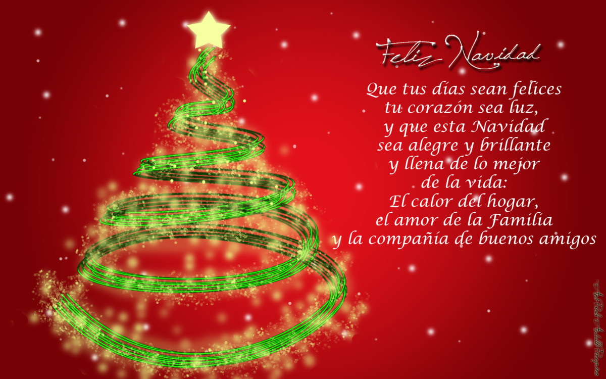 Imágenes hermosas con bellas palabras para desear Feliz Navidad y ...