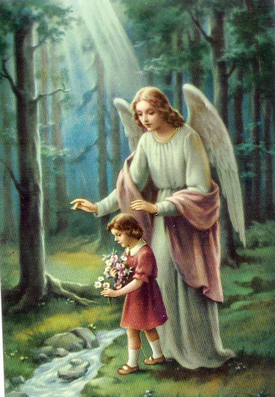 imágenes de ángeles guardianes de la guarda con niña
