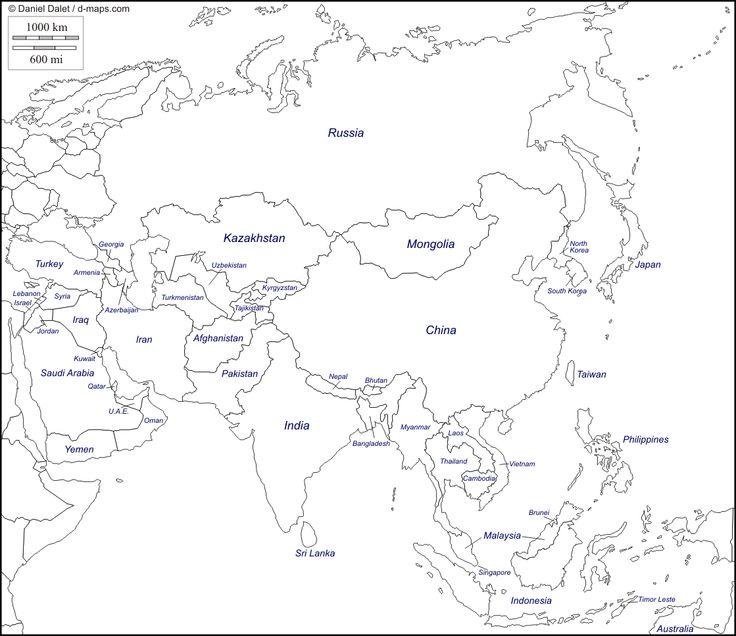 Información e imágenes con Mapas de Asia Político, Físico y para ...