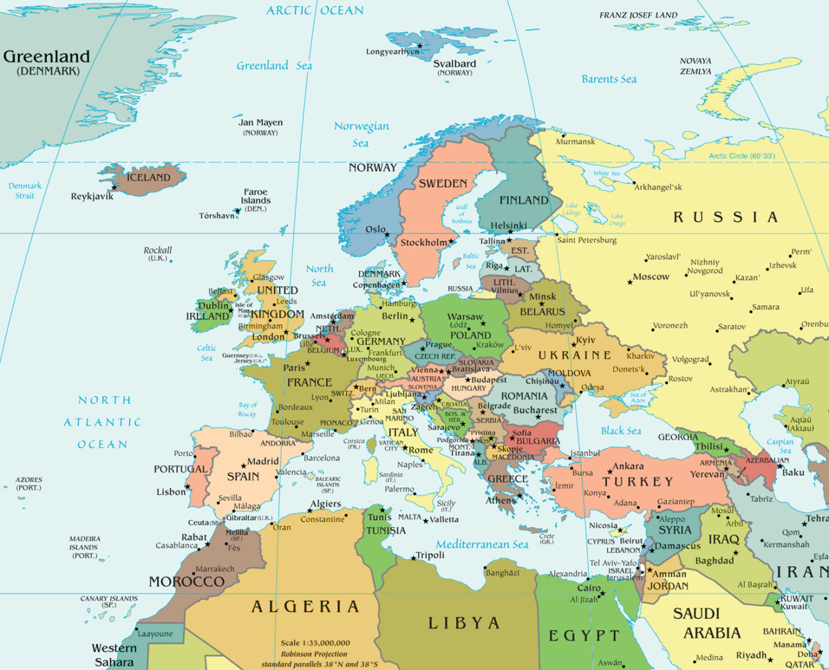 Informacion E Imagenes Con Mapas De Europa Fisico Politico Y Para Colorear