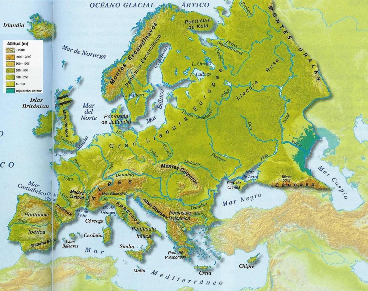 Islas De Europa Mapa.Informacion E Imagenes Con Mapas De Europa Fisico Politico