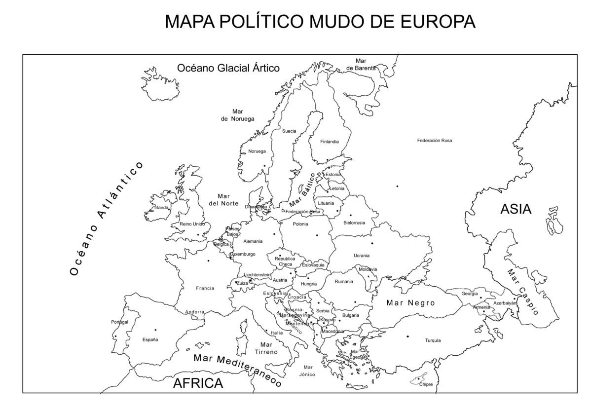 Niños De Paises Para Pintar: Información E Imágenes Con Mapas De Europa Fisico