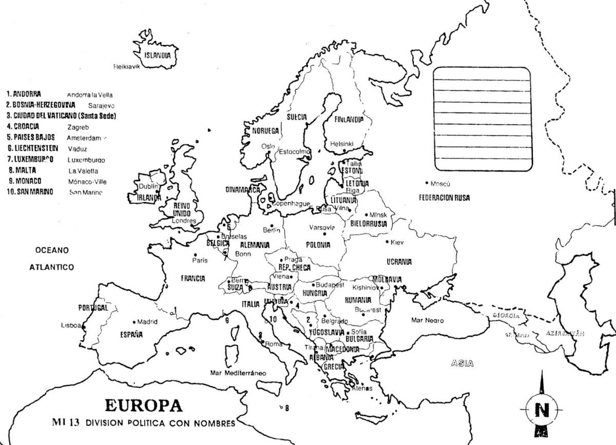 Información E Imágenes Con Mapas De Europa Fisico Político