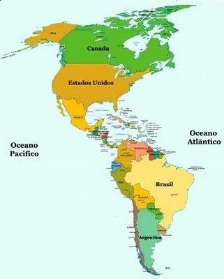Mapa De America Dibujo