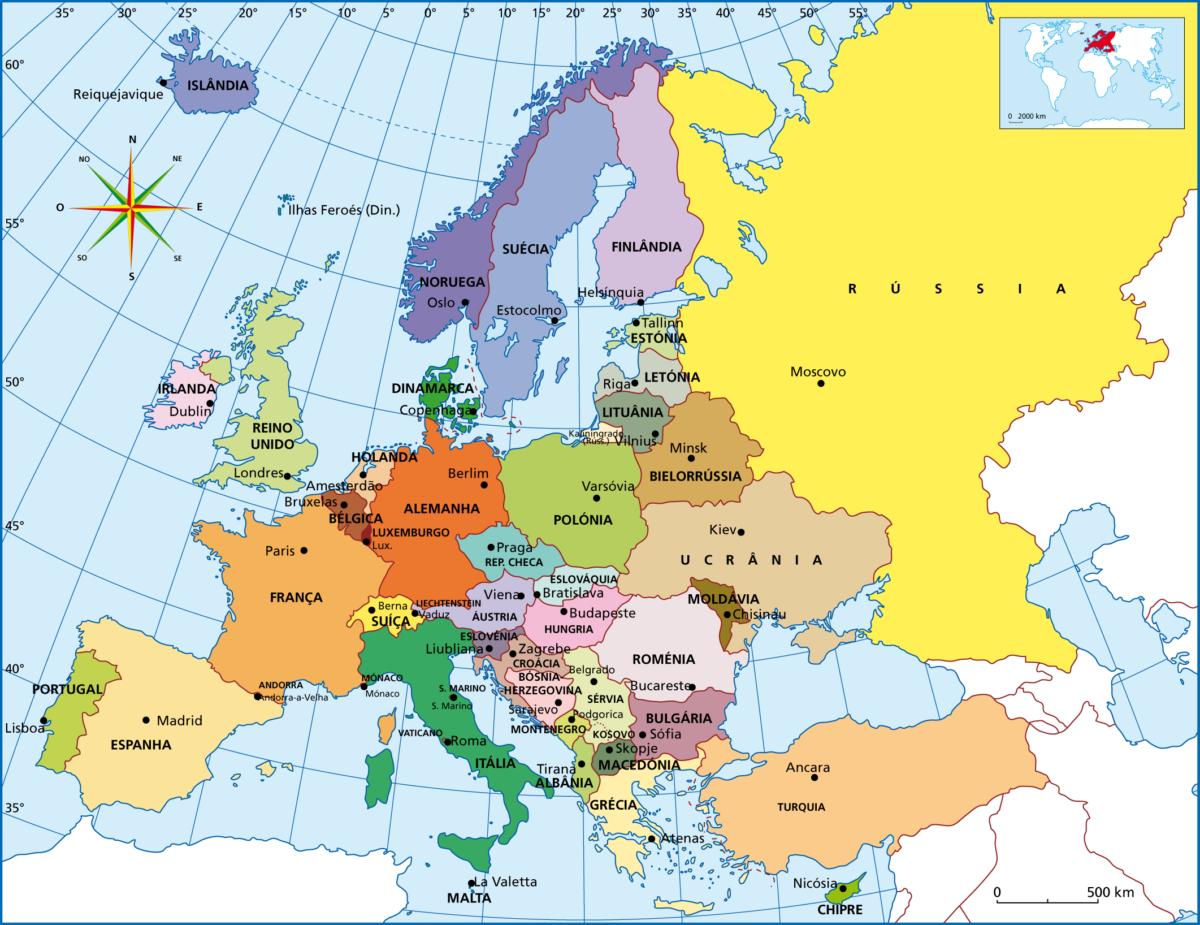 Mapa De Europa Con Paises.Informacion E Imagenes Con Mapas De Europa