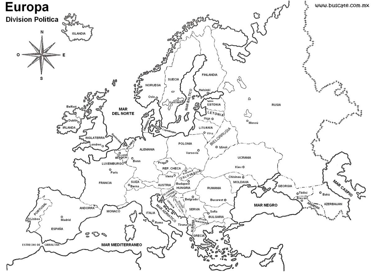Información e Imágenes con Mapas de Europa