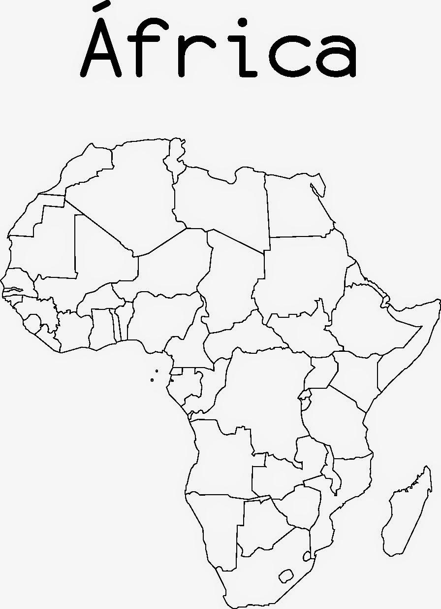 Información e imágenes con mapas de África y paises: fisicos