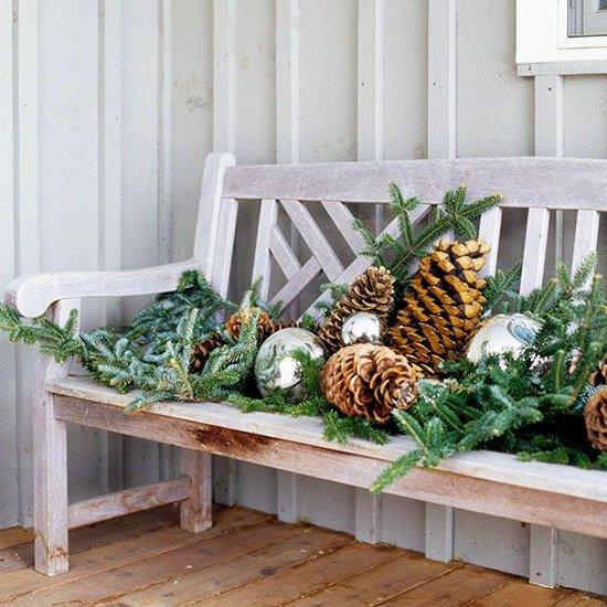Decoraci n de navidad adornos arreglos rboles jardines - Adornos de navidad para jardin ...