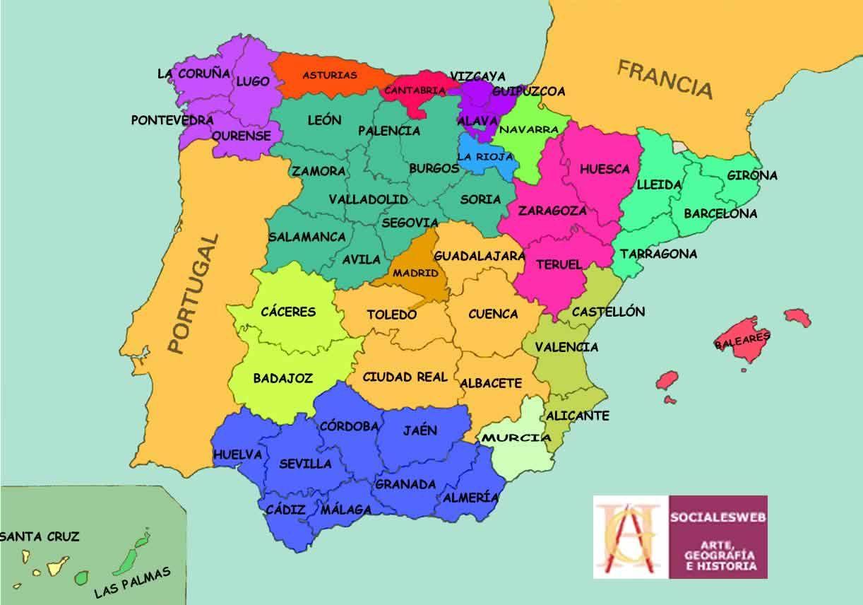 Mapa Picos De España.Informacion E Imagenes Con Mapas De Espana Politico Y Fisico