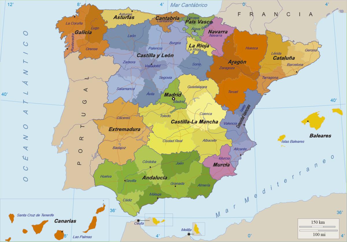 Mapa Picos De España.Mapas De Espana Para Descargar E Imprimir Completamente